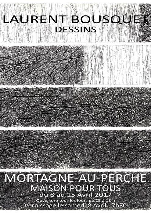 Affiche de l'exposition Dessins, Mortagne-au-Perche
